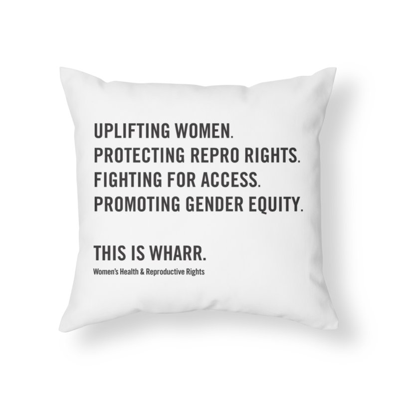 WHARR Mission Home Throw Pillow by Get Organized BK's Artist Shop