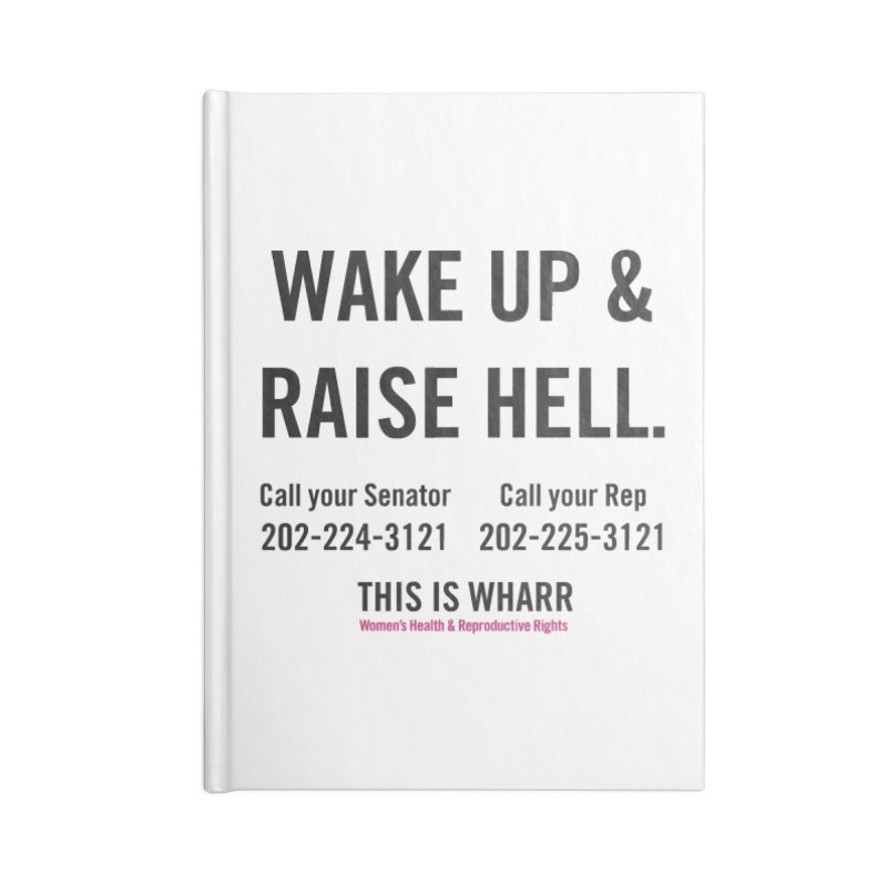 Raise Hell Accessories Blank Journal Notebook by Get Organized BK's Artist Shop