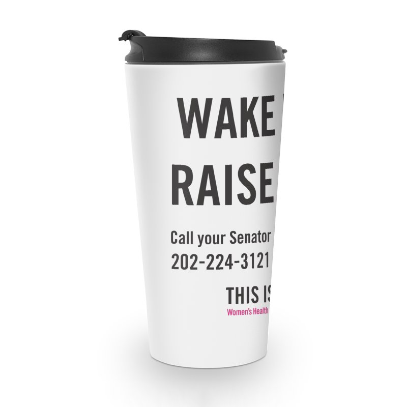Raise Hell Accessories Travel Mug by Get Organized BK's Artist Shop