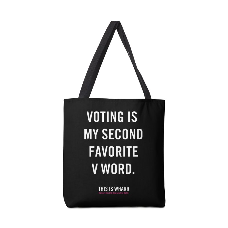 V WORD Accessories Tote Bag Bag by Get Organized BK's Artist Shop