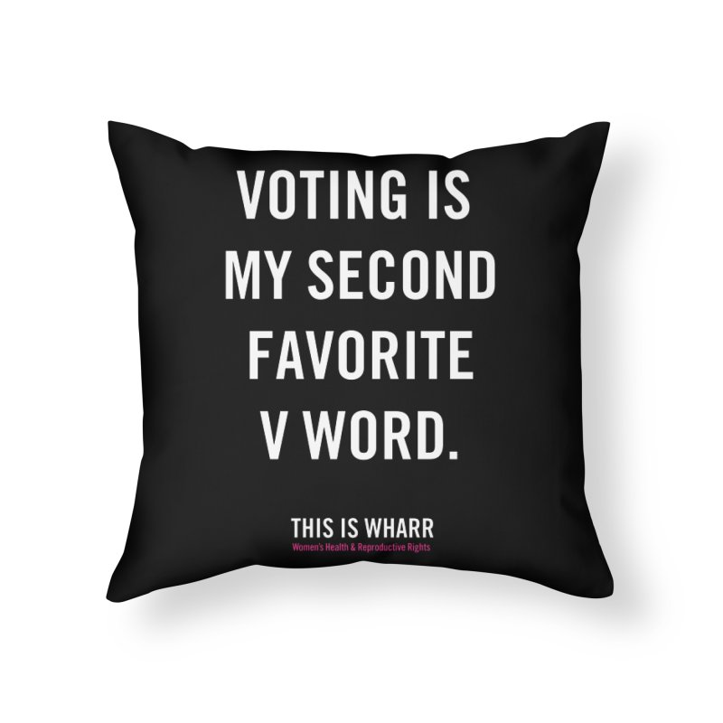 V WORD Home Throw Pillow by Get Organized BK's Artist Shop