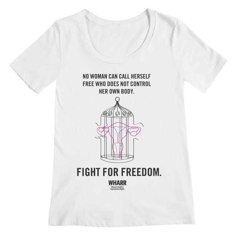 FREEDOM Women's Regular Scoop Neck by Get Organized BK's Artist Shop