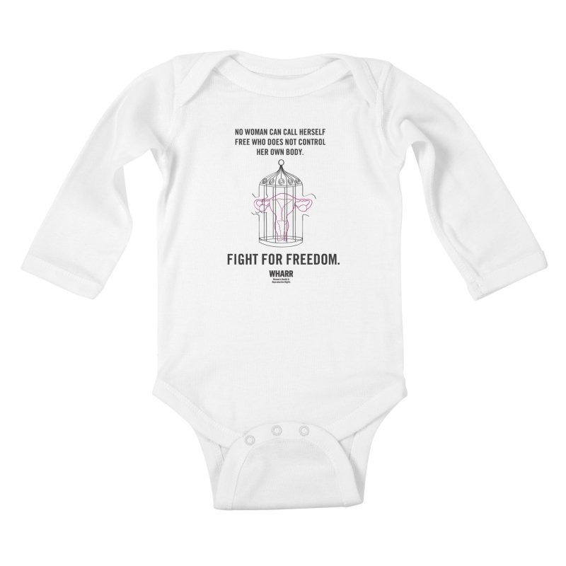FREEDOM Kids Baby Longsleeve Bodysuit by Get Organized BK's Artist Shop