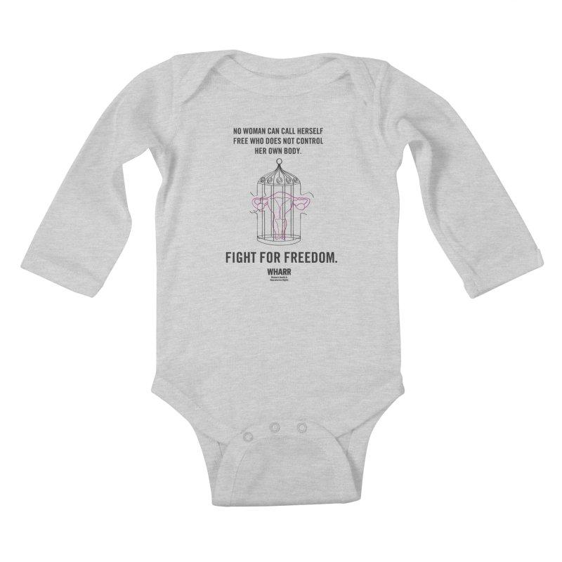 FREEDOM Kids Baby Longsleeve Bodysuit by Get Organized BK's Artist Shop