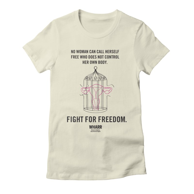 FREEDOM Women's Fitted T-Shirt by Get Organized BK's Artist Shop