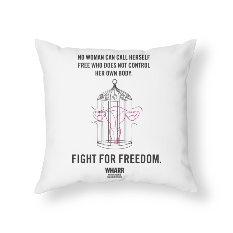 FREEDOM Home Throw Pillow by Get Organized BK's Artist Shop