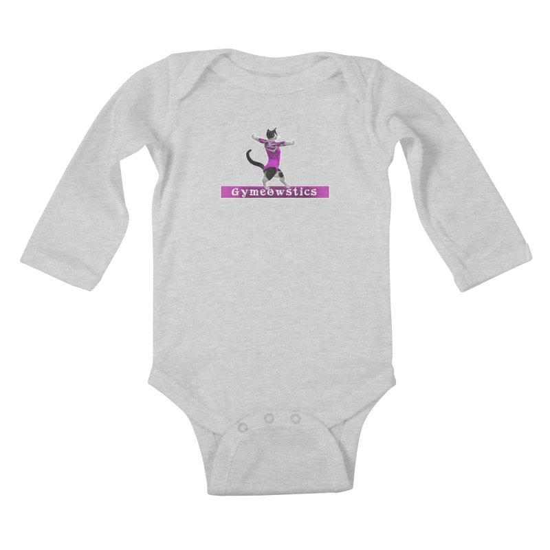 Gymeowstics Kids Baby Longsleeve Bodysuit by Games for Glori Shop