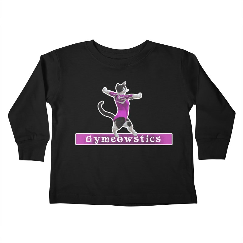 Gymeowstics Kids Toddler Longsleeve T-Shirt by Games for Glori Shop