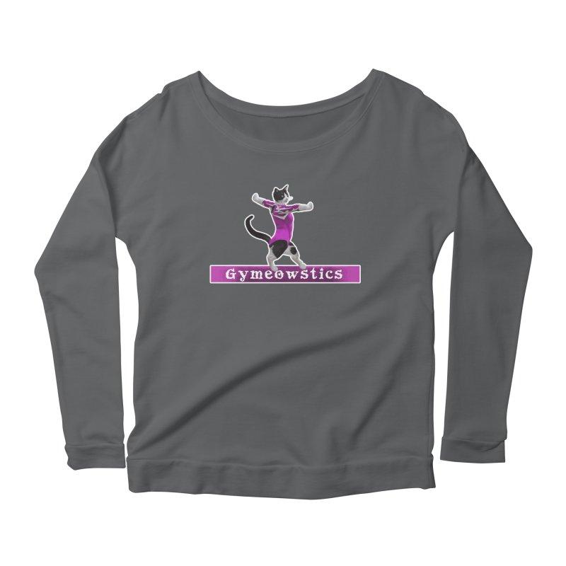 Gymeowstics Women's Scoop Neck Longsleeve T-Shirt by Games for Glori Shop