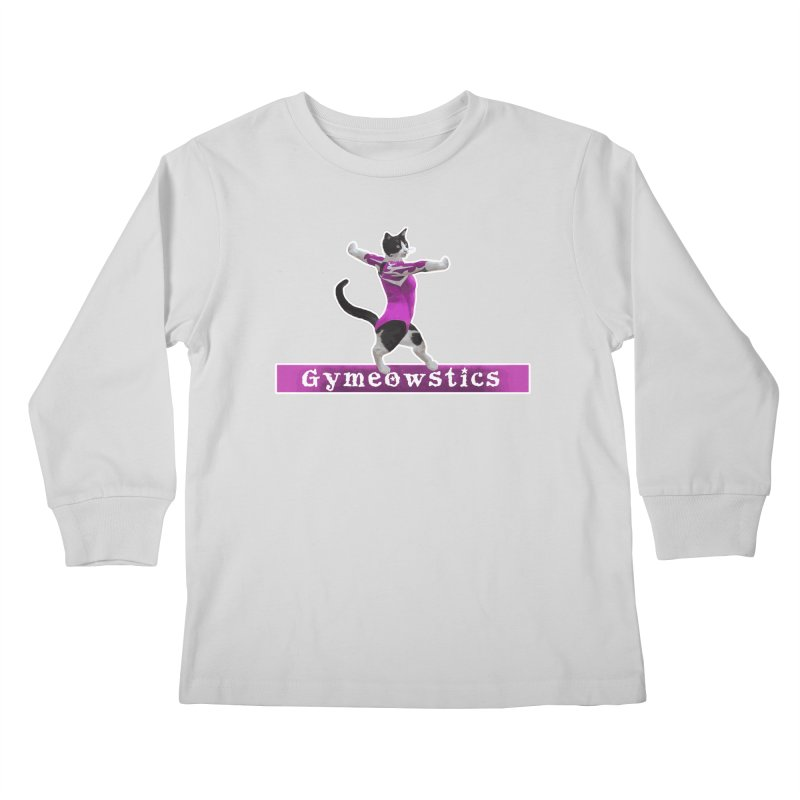 Gymeowstics Kids Longsleeve T-Shirt by Games for Glori Shop