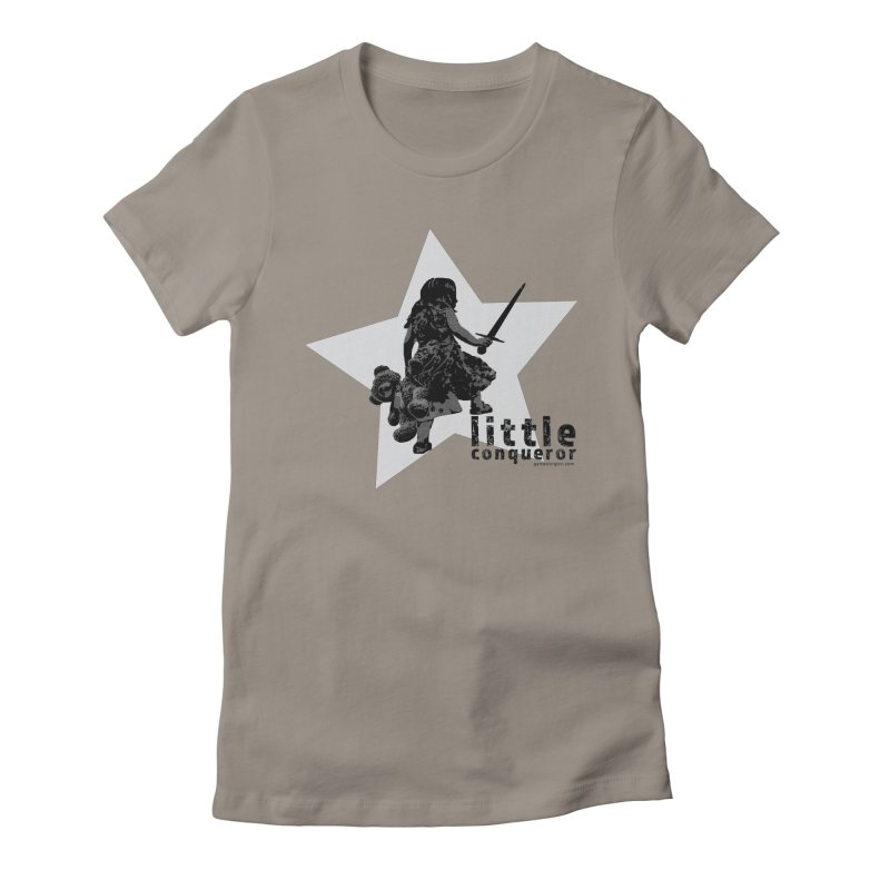 Little Conqueror Women's Fitted T-Shirt by Games for Glori Shop