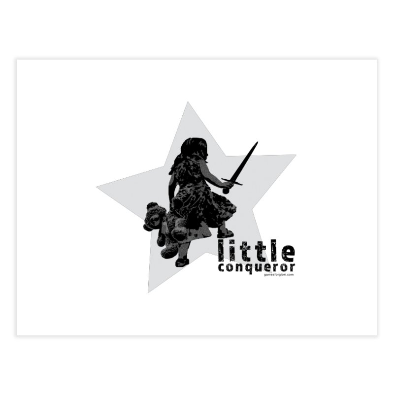 Little Conqueror Home Fine Art Print by Games for Glori Shop