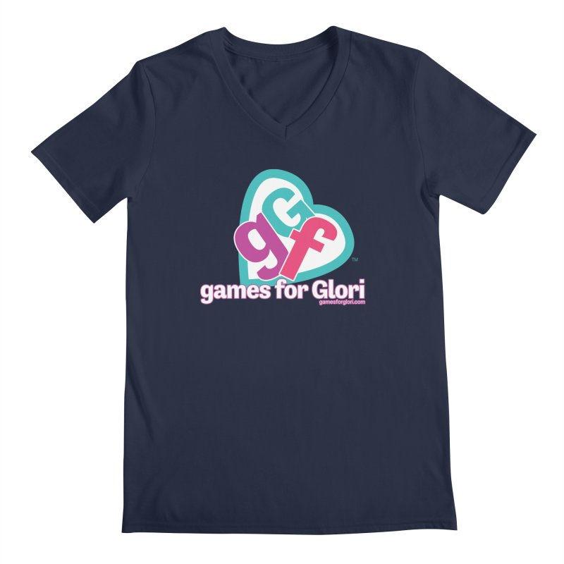 Games for Glori Men's Regular V-Neck by Games for Glori Shop