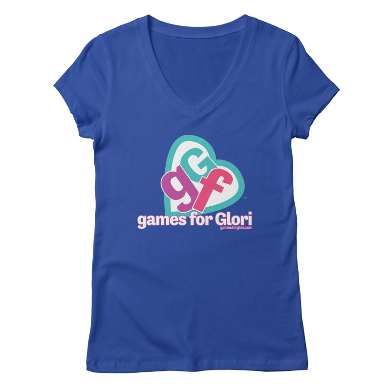Games for Glori Women's Regular V-Neck by Games for Glori Shop
