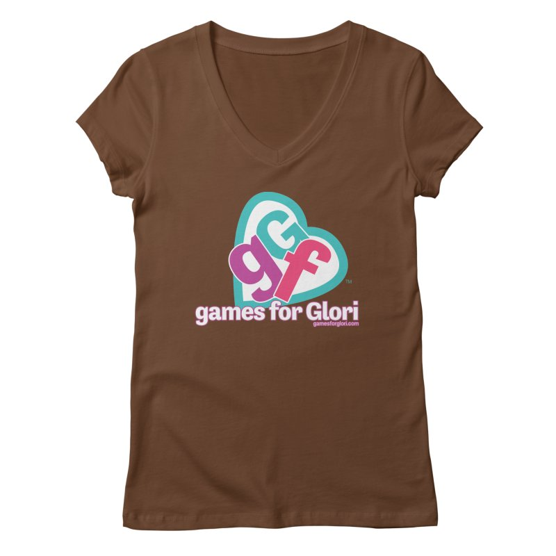 Games for Glori Women's Regular V-Neck by Games for Glori Shop
