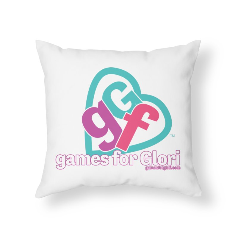 Games for Glori Home Throw Pillow by Games for Glori Shop