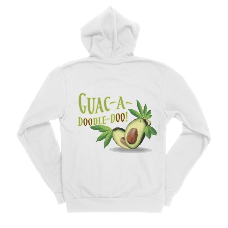 Guac-A-Doodle-Doo Women's Sponge Fleece Zip-Up Hoody by Games for Glori Shop