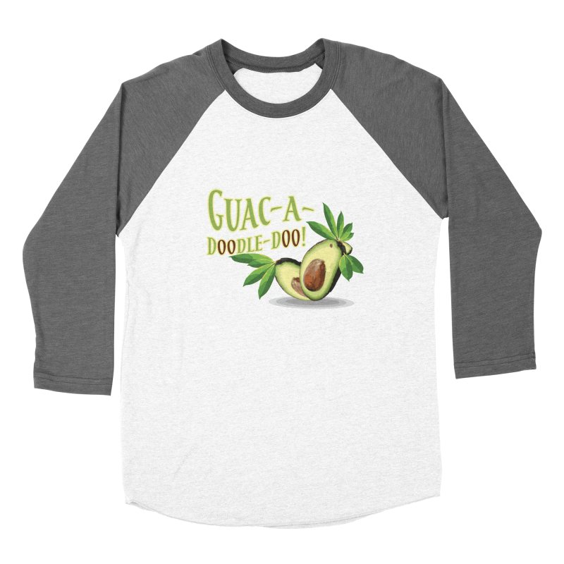 Guac-A-Doodle-Doo Men's Baseball Triblend Longsleeve T-Shirt by Games for Glori Shop
