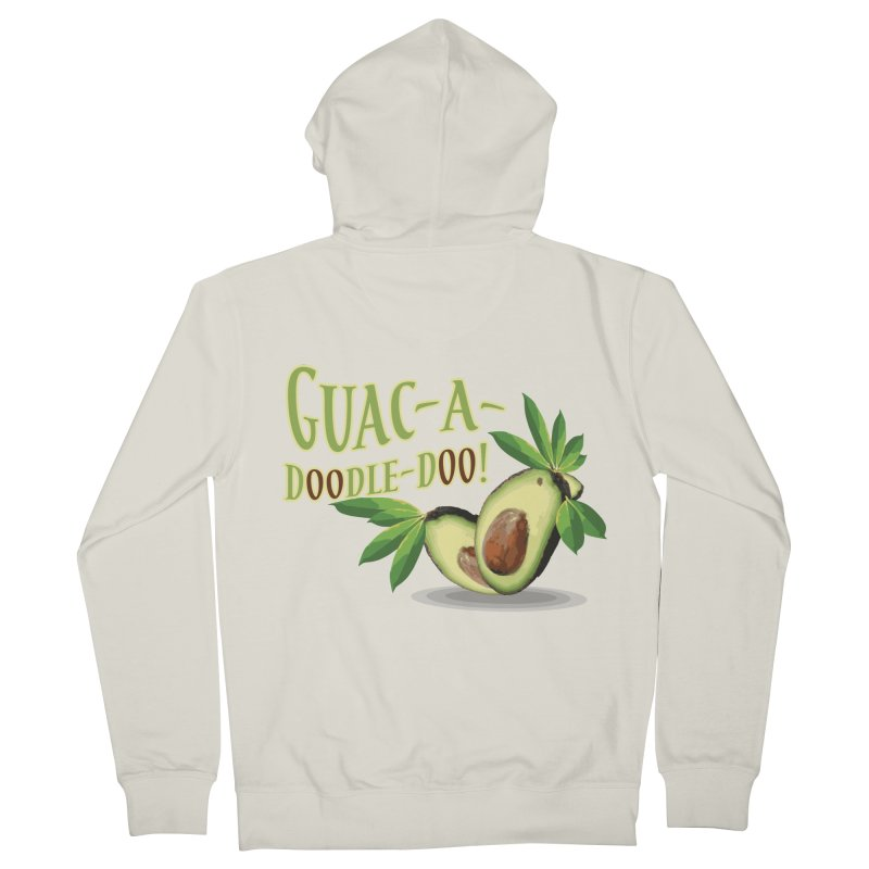 Guac-A-Doodle-Doo Men's French Terry Zip-Up Hoody by Games for Glori Shop