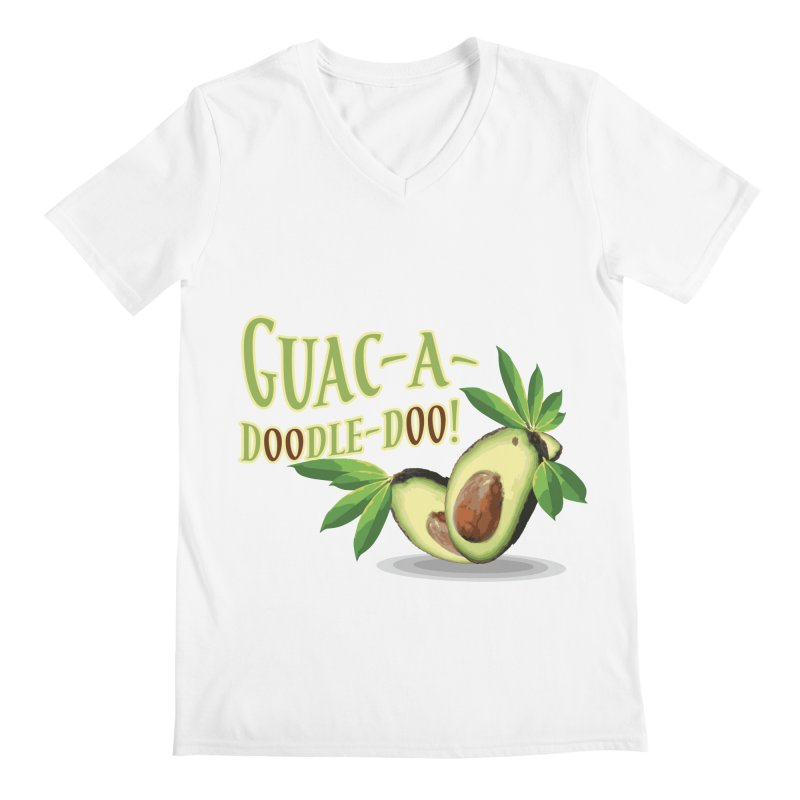 Guac-A-Doodle-Doo Men's Regular V-Neck by Games for Glori Shop