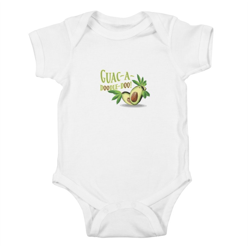 Guac-A-Doodle-Doo Kids Baby Bodysuit by Games for Glori Shop