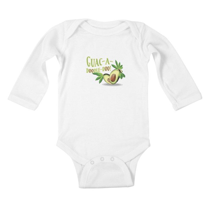 Guac-A-Doodle-Doo Kids Baby Longsleeve Bodysuit by Games for Glori Shop
