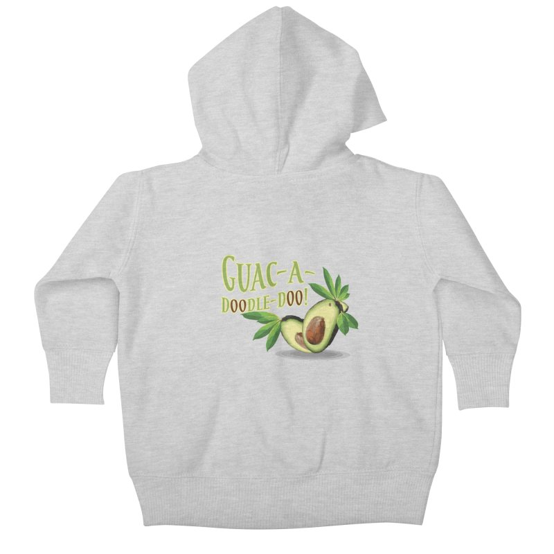 Guac-A-Doodle-Doo Kids Baby Zip-Up Hoody by Games for Glori Shop