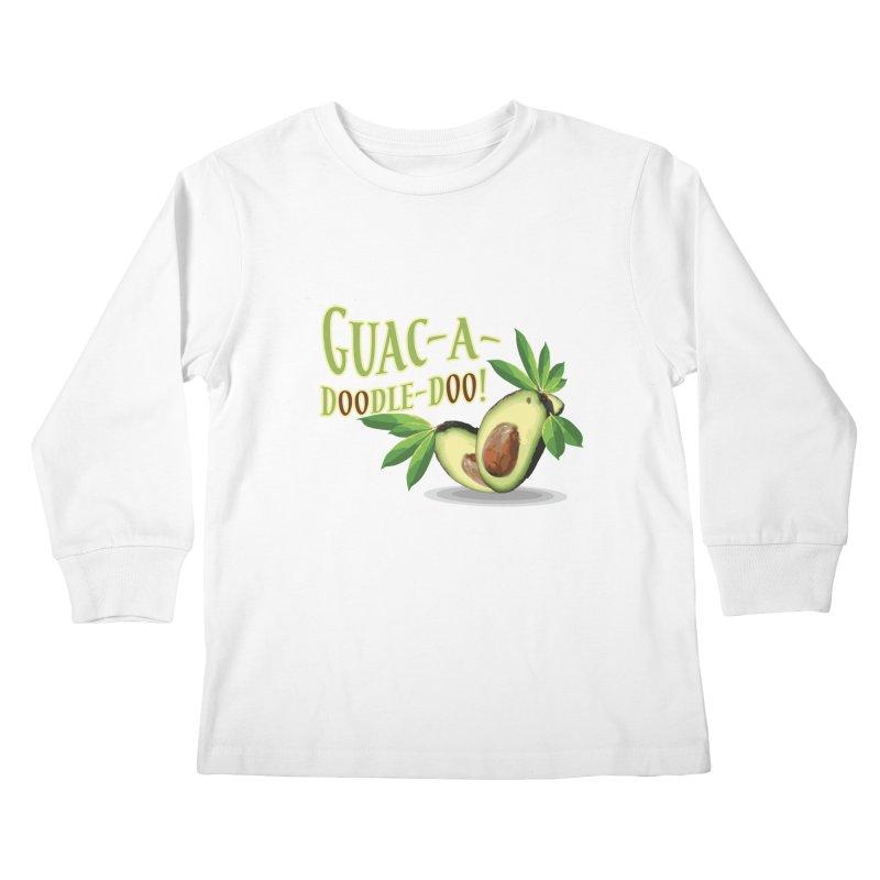 Guac-A-Doodle-Doo Kids Longsleeve T-Shirt by Games for Glori Shop