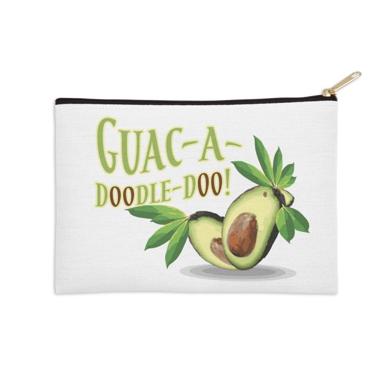 Guac-A-Doodle-Doo Accessories Zip Pouch by Games for Glori Shop