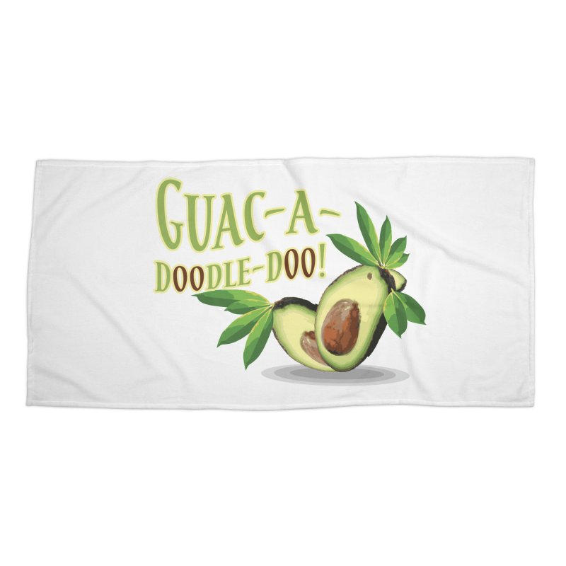 Guac-A-Doodle-Doo Accessories Beach Towel by Games for Glori Shop