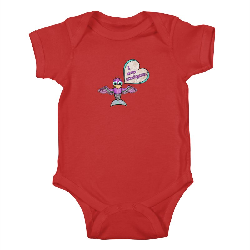 I am unique Kids Baby Bodysuit by Games for Glori Shop