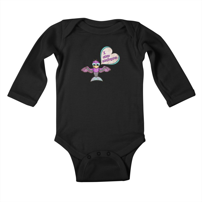 I am unique Kids Baby Longsleeve Bodysuit by Games for Glori Shop