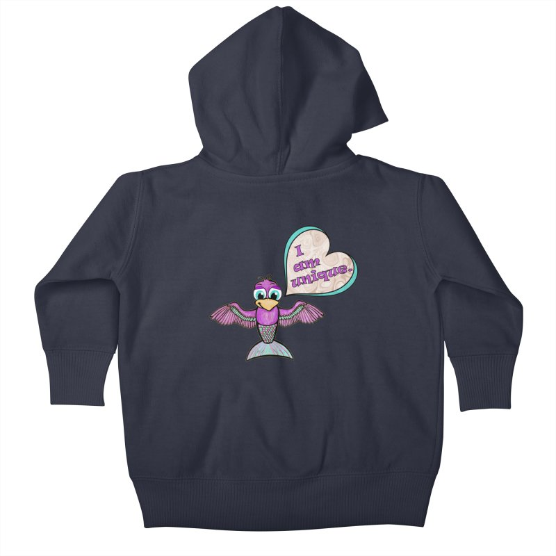 I am unique Kids Baby Zip-Up Hoody by Games for Glori Shop