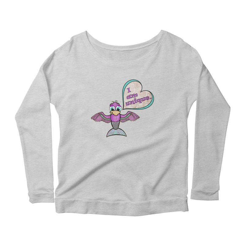 I am unique Women's Scoop Neck Longsleeve T-Shirt by Games for Glori Shop