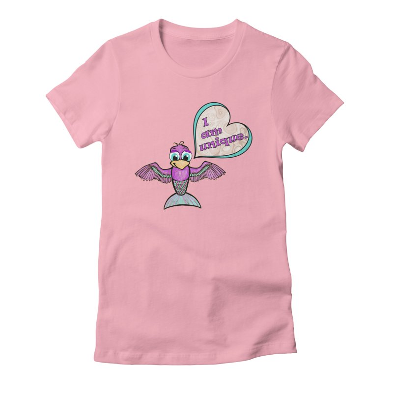 I am unique Women's Fitted T-Shirt by Games for Glori Shop