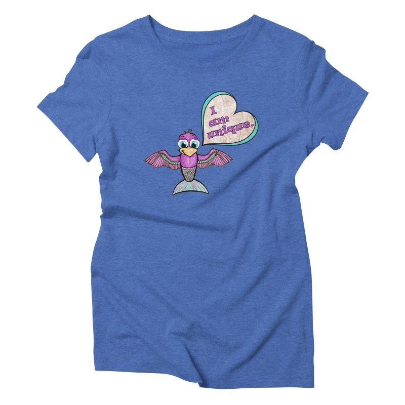 I am unique Women's Triblend T-Shirt by Games for Glori Shop