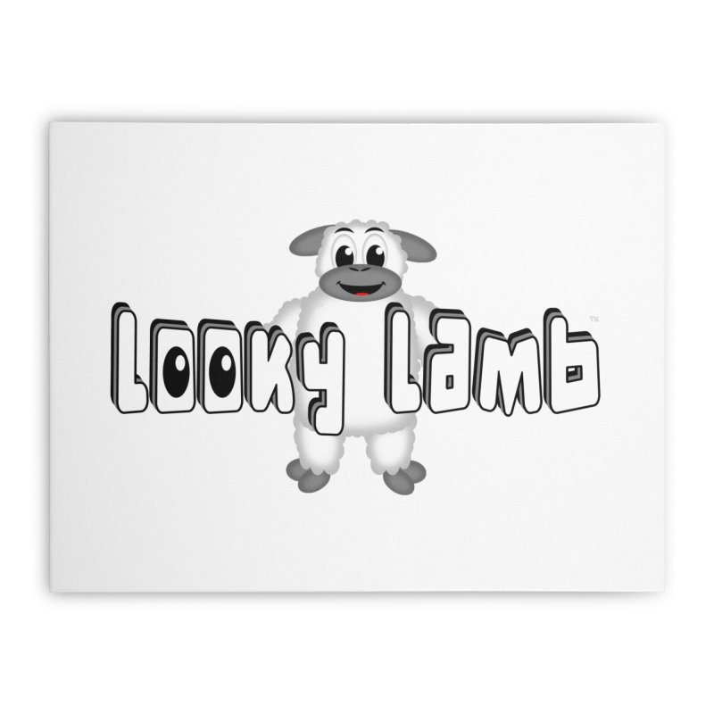 Looky Lamb Home Stretched Canvas by Games for Glori Shop