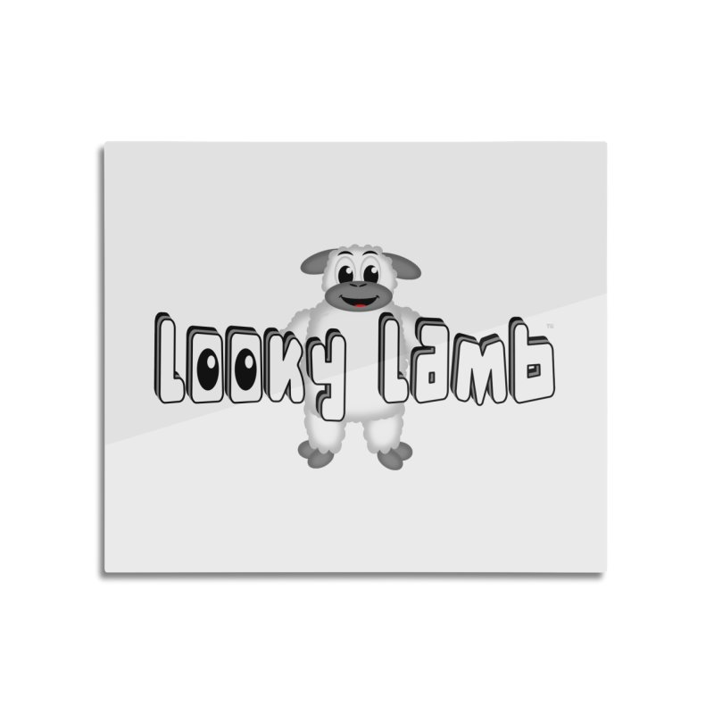 Looky Lamb Home Mounted Aluminum Print by Games for Glori Shop