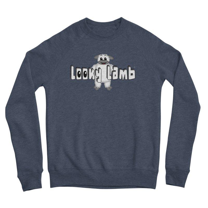 Looky Lamb Men's Sponge Fleece Sweatshirt by Games for Glori Shop