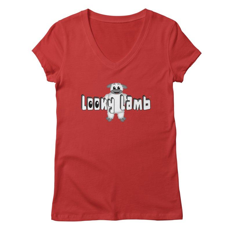 Looky Lamb Women's Regular V-Neck by Games for Glori Shop