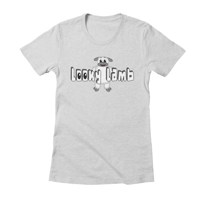 Looky Lamb Women's Fitted T-Shirt by Games for Glori Shop