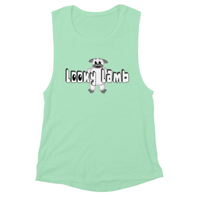 Looky Lamb Women's Muscle Tank by Games for Glori Shop