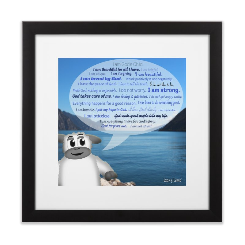 Positive Affirmations Home Framed Fine Art Print by Games for Glori Shop