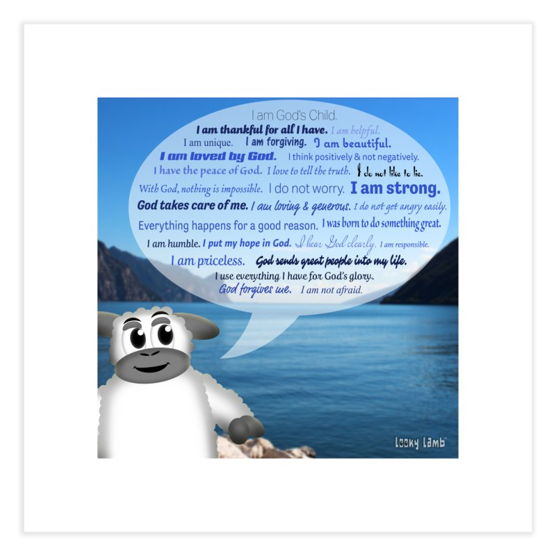 Positive Affirmations Home Fine Art Print by Games for Glori Shop