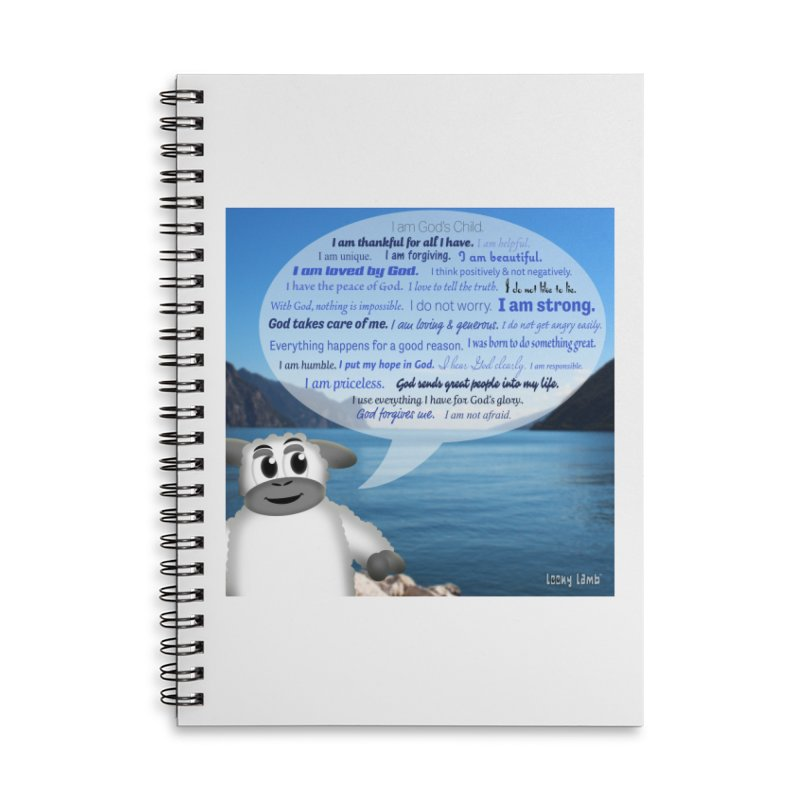 Positive Affirmations Accessories Lined Spiral Notebook by Games for Glori Shop