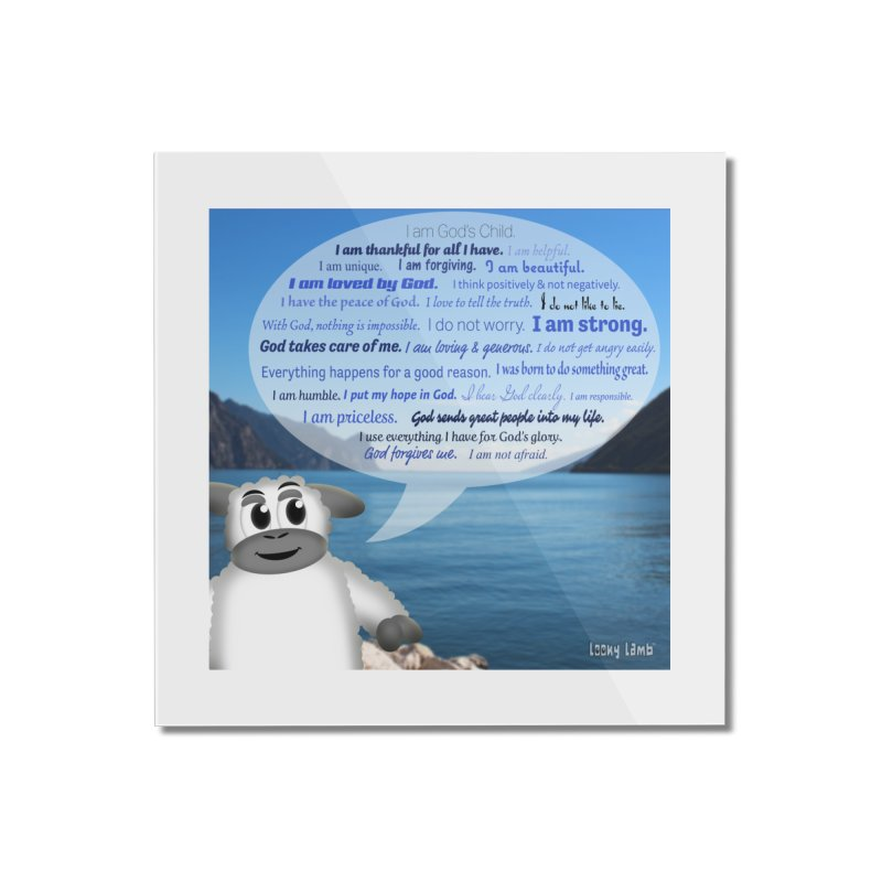 Positive Affirmations Home Mounted Acrylic Print by Games for Glori Shop