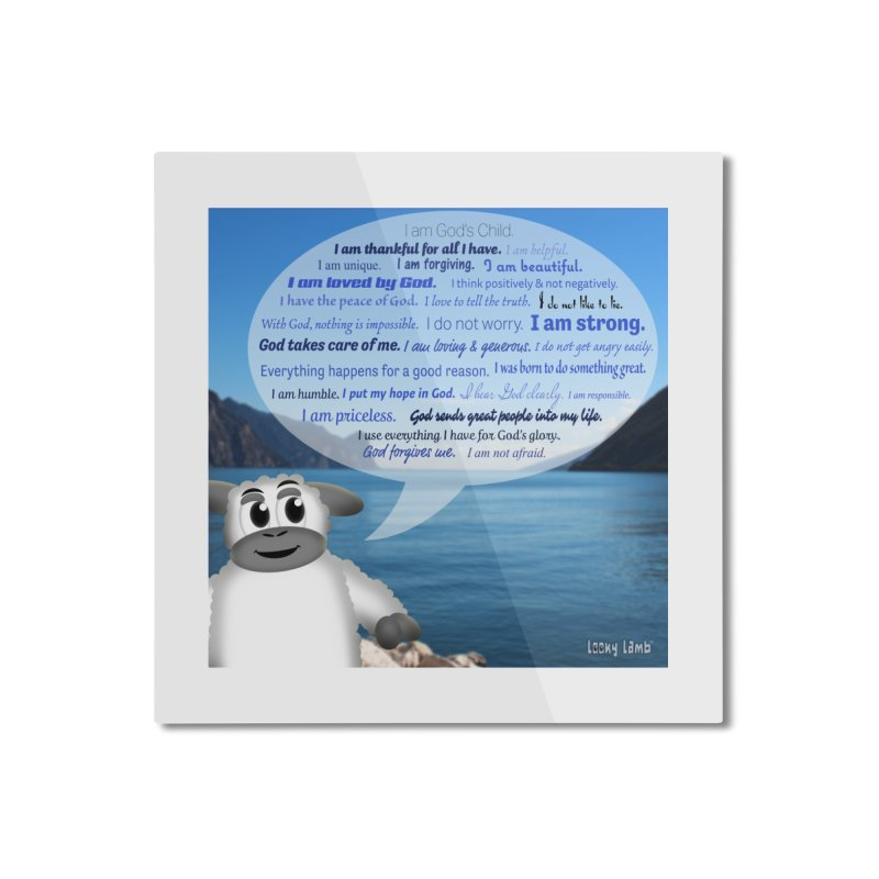 Positive Affirmations Home Mounted Aluminum Print by Games for Glori Shop