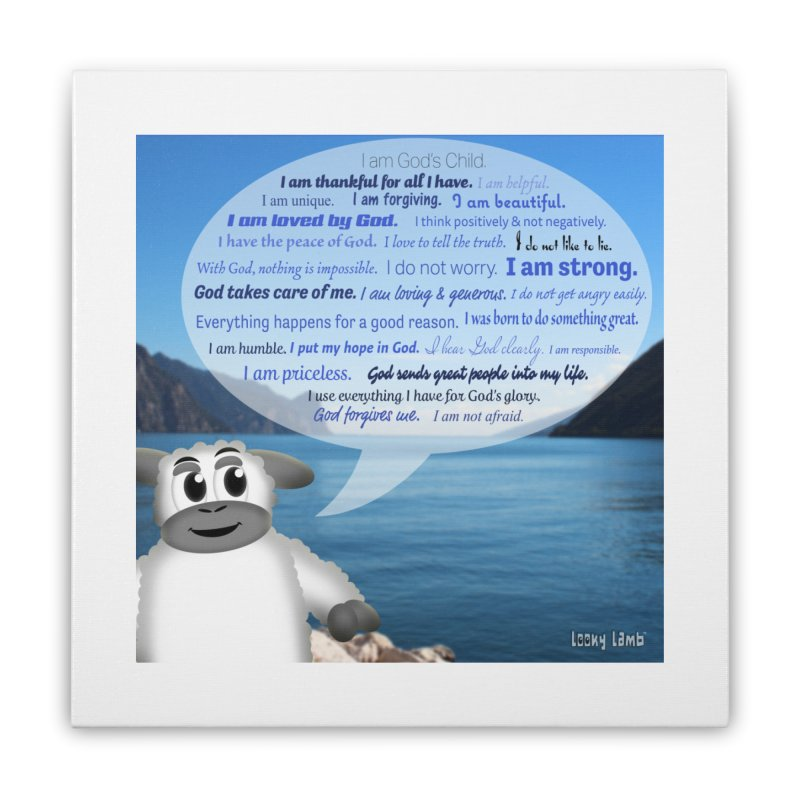 Positive Affirmations Home Stretched Canvas by Games for Glori Shop