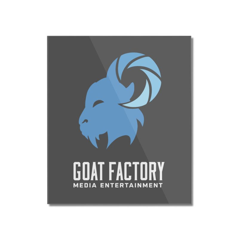 The New Goat Home Mounted Acrylic Print by GFMEDIA - Goat Town Mall