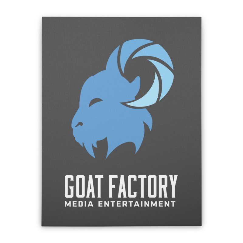 The New Goat Home Stretched Canvas by GFMEDIA - Goat Town Mall